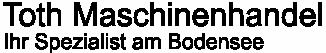 Maschinenhandel Toth