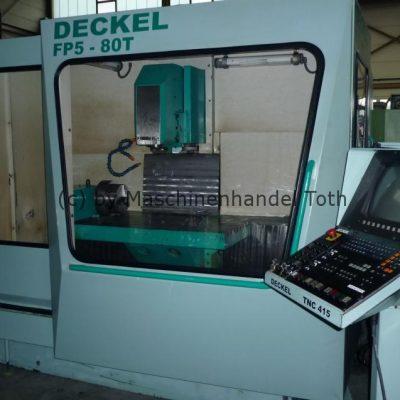 Bearbeitungszentrum Deckel FP 5-80, HDH 415, 4. Achse wegen Geschäftsaufgabe