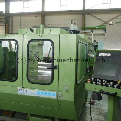 CNC Fräsmaschine Mikron WF 21 D, Heidenhain TNC 355 wegen Geschäftsaufgabe