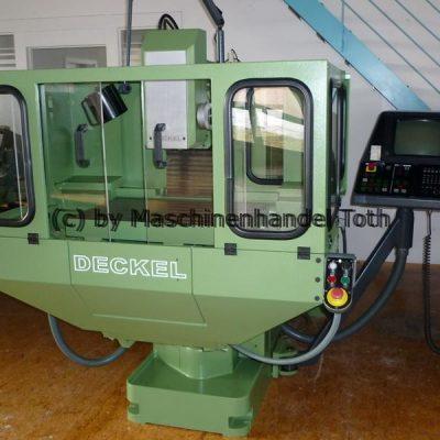 CNC Fräsmaschine Deckel FP 3 NC, TNC 355 wegen Geschäftsaufgabe